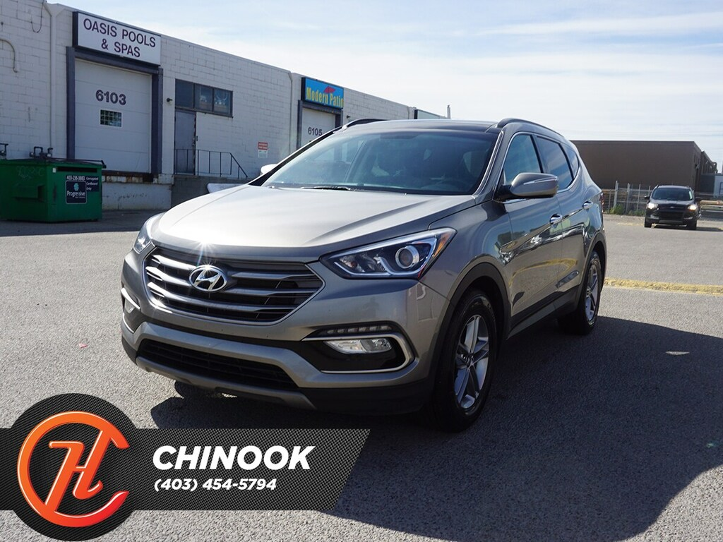 Pre-Owned 2018 Hyundai Santa Fe Sport Luxury w/ Bluetooth,Navigation,Heated Seats