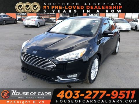 Pre-Owned 2018 Ford Focus Titanium / Leather / Sunroof / Back Up Cam