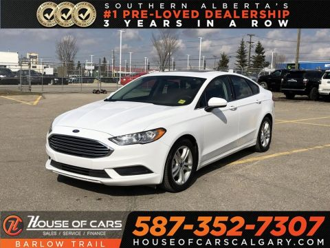 Pre-Owned 2018 Ford Fusion SE / Back up Camera / Sunroof / Bluetooth